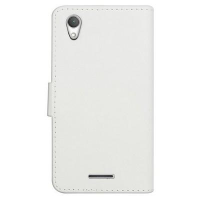 Microsonic Cüzdanlı Deri Sony Xperia T3 Kılıf Beyaz Cep Telefonu Kılıfı