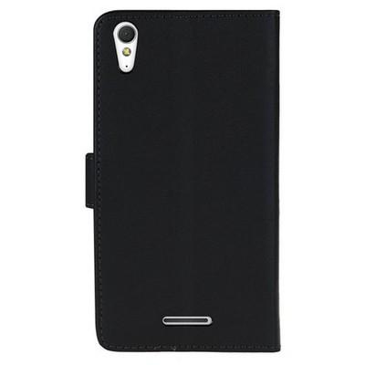 Microsonic Cüzdanlı Deri Sony Xperia T3 Kılıf Siyah Cep Telefonu Kılıfı