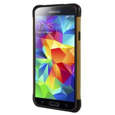 Microsonic Slim Fit Dual Layer Armor Samsung Galaxy S5 Kılıf Sarı Cep Telefonu Kılıfı