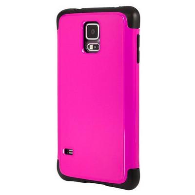 Microsonic Slim Fit Dual Layer Armor Samsung Galaxy S5 Kılıf Pembe Cep Telefonu Kılıfı