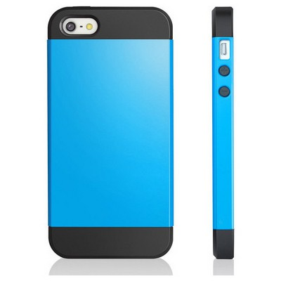 Microsonic Slim Fit Dual Layer Armor Iphone 5s Kılıf Mavi Cep Telefonu Kılıfı