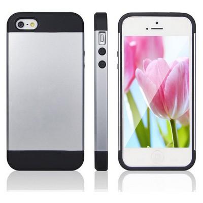 Microsonic Slim Fit Dual Layer Armor Iphone 5s Kılıf Gümüş Cep Telefonu Kılıfı
