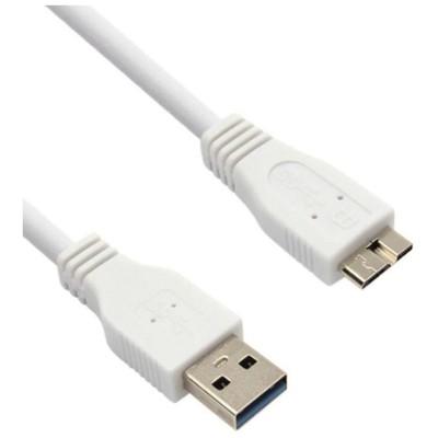 Flaxes Fmu-03s Micro Usb 3.0 Samsung Note3 Ve S5 Için Data + Şarj Kablosu Am-mbm Beyaz Dönüştürücü Kablo