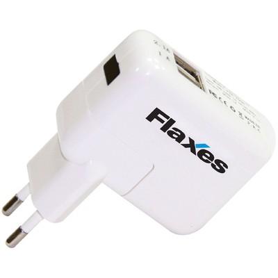 Flaxes Fxa-700b 5v 2,1 Amper & 1 Amper Tablet Ve Gsm Adaptörü - Çift Usb Beyaz Şarj Cihazları