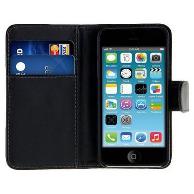 Microsonic Cüzdanlı Deri Iphone 4s Kılıf Siyah Cep Telefonu Kılıfı