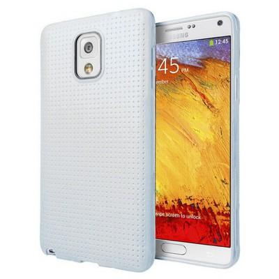 Microsonic Dot Style Silikon Samsung Galaxy Note 3 Kılıf Beyaz Cep Telefonu Kılıfı