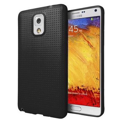 Microsonic Dot Style Silikon Samsung Galaxy Note 3 Kılıf Siyah Cep Telefonu Kılıfı