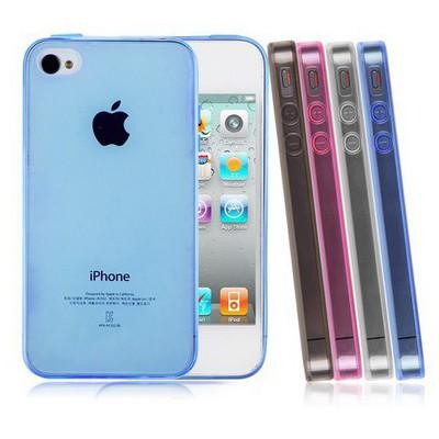 Microsonic Transparent Soft Iphone 4s Kılıf Pembe Cep Telefonu Kılıfı