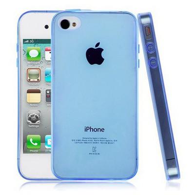Microsonic Transparent Soft Iphone 4s Kılıf Mavi Cep Telefonu Kılıfı