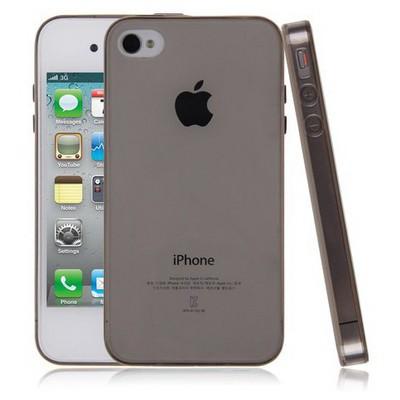 Microsonic Transparent Soft Iphone 4s Kılıf Siyah Cep Telefonu Kılıfı