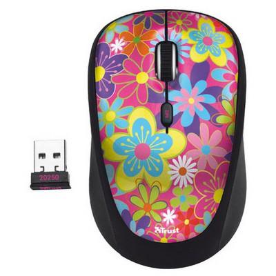 Trust Yvi Kablosuz Mouse - Çiçek Desenli (20250)