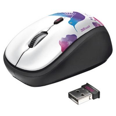 Trust 20251 Yvi Kablosuz Mini  - Kuş Desenli Mouse