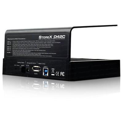 """Dark Dk-ac-dsd42c Storex 2.5""""/3.5"""" Inç 4 Disk Destekli Tek Tuş Klonlama Usb3.0 Docking Harici Disk Kutusu"""
