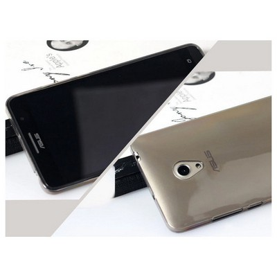 Microsonic Transparent Soft Asus Zenfone 5 Lite Kılıf Siyah Cep Telefonu Kılıfı