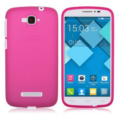 Microsonic Transparent Soft Alcatel One Touch Pop C7 Kılıf Pembe Cep Telefonu Kılıfı