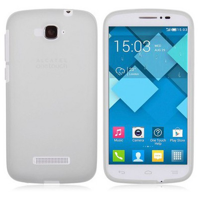 Microsonic Transparent Soft Alcatel One Touch Pop C7 Kılıf Beyaz Cep Telefonu Kılıfı