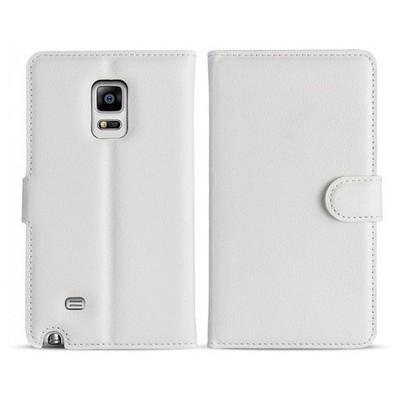 Microsonic Cüzdanlı Deri Samsung Galaxy Note Edge Kılıf Beyaz Cep Telefonu Kılıfı