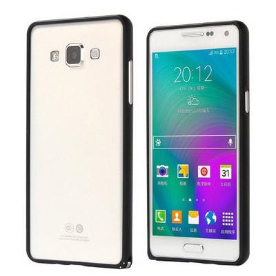 Microsonic Samsung Galaxy A5 Thin Metal Çerçeve Kılıf Siyah Cep Telefonu Kılıfı