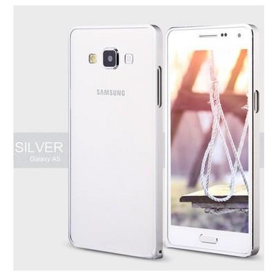 Microsonic Samsung Galaxy A5 Thin Metal 0 Kılıf Gümüş Cep Telefonu Kılıfı