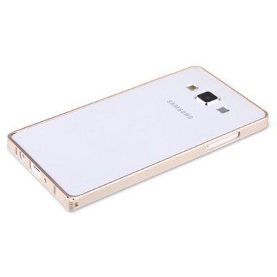 Microsonic Samsung Galaxy A5 Thin Metal Çerçeve Kılıf Sarı Cep Telefonu Kılıfı