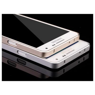 Microsonic Samsung Galaxy A3 Thin Metal Çerçeve Kılıf Siyah Cep Telefonu Kılıfı