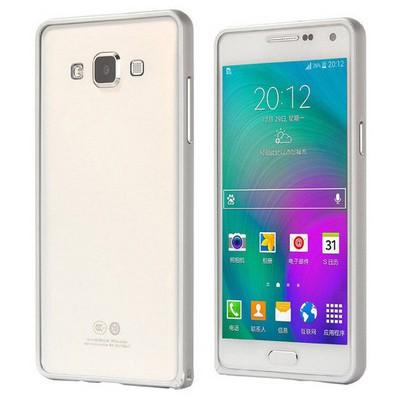 Microsonic Samsung Galaxy A3 Thin Metal Çerçeve Kılıf Gümüş Cep Telefonu Kılıfı