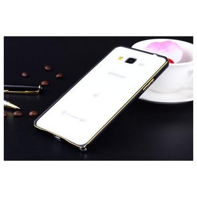 Microsonic Samsung Galaxy Grand Prime Thin Metal Çerçeve Kılıf Siyah Cep Telefonu Kılıfı