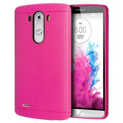 Microsonic Dot Style Silikon Lg G3 Kılıf Pembe Cep Telefonu Kılıfı