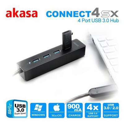 Akasa Connect 4sx 4 Port Usb3.0 Hub USB Aksesuarı