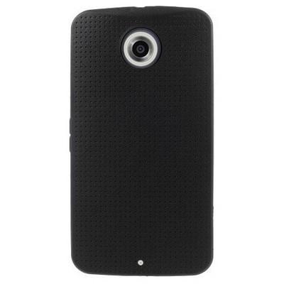 Microsonic Dot Style Silikon Motorola Nexus 6 Kılıf Siyah Cep Telefonu Kılıfı