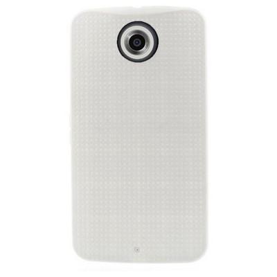 Microsonic Dot Style Silikon Motorola Nexus 6 Kılıf Beyaz Cep Telefonu Kılıfı