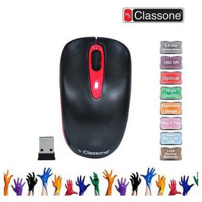 Classone Wm739-br 2.4 Ghz Kablosuz  2+1 Tuş Nano Alıcı Usb Siyah/kırmızı Mouse