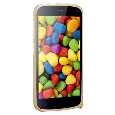 Microsonic General Mobile Discovery Thin Metal Çerçeve Kılıf Sarı Cep Telefonu Kılıfı