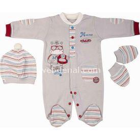 bebepan-1442-racing-3lu-patikli-erkek-bebek-tulumu-0-ay-50-56-cm-