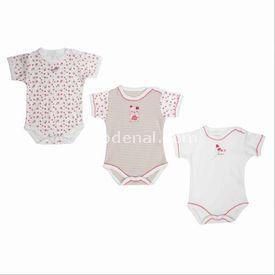 Bebepan 1497 Littles Kısa Kollu 3lü Bebek Body Beyaz 6-9 Ay (68-74 Cm) Kız Bebek Body