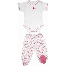 Bebepan 1500 Littles 2li ı Beyaz-pembe 0 Ay (50-56 Cm) Kız Bebek Takım