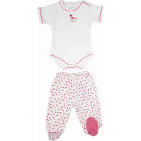 Bebepan 1500 Littles 2li ı Beyaz-pembe 0-3 Ay (56-62 Cm) Kız Bebek Takım