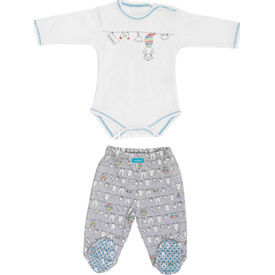 Bebepan 1530 Joyful Bebek 2li Takım 9-12 Ay (74-80 Cm) Erkek Bebek Takım