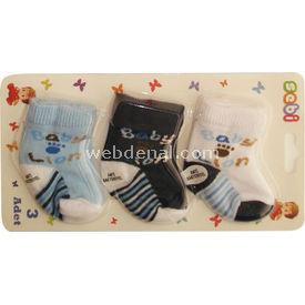 Sebi Bebe 197 3lü Bebek Çorabı Bob Lion Erkek Bebek Çamaşırı