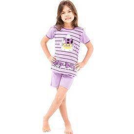 Roly Poly 2462 Kısa Kol Kız Çocuk Pijama Takımı 3lü Mor 1 Yaş (86 Cm) Kız Bebek Pijaması