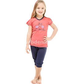 Roly Poly 2467 Kısa Kol Kız Çocuk Pijama Takımı Narçiçeği 1 Yaş (86 Cm) Kız Bebek Pijaması