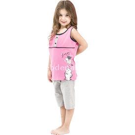 Roly Poly 2469 Askılı Kız Çocuk Pijama Takımı Fuşya 1 Yaş (86 Cm) Kız Bebek Pijaması