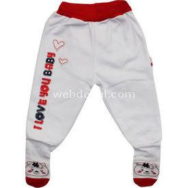 Bebengo 28291 I Love You Kız Çoraptolon Kırmızı 3-6 Ay (62-68 Cm) Pantolon & Şort