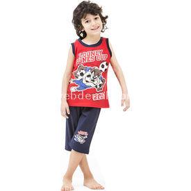 Roly Poly 3024 Tazmanya Lisanslı Erkek Çocuk Pijama Takımı Kırmızı 3 Yaş (98 Cm) Erkek Bebek Pijaması