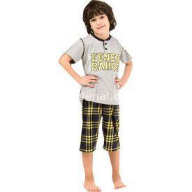 Roly Poly 3034 Erkek Çocuk Pijama Takımı Gri 5 Yaş (110 Cm) Erkek Bebek Pijaması