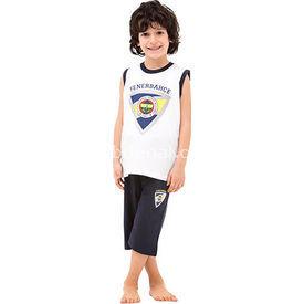 Roly Poly 3037 Fenerbahçe Lisanslı Erkek Çocuk Pijama Takımı Beyaz 4 Yaş (104 Cm) Fenerbahçe Ürünleri