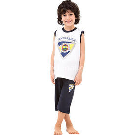 Roly Poly 3037 Fenerbahçe Lisanslı Erkek Çocuk Pijama Takımı Beyaz 7 Yaş (122 Cm) Fenerbahçe Ürünleri
