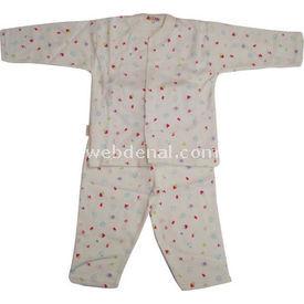 Sebi Bebe 51032 Bebek Pijaması Ev Baskılı Turkuaz 6-9 Ay (68-74 Cm) Kız Bebek Pijaması