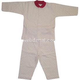 Sebi Bebe 51048 Bebek Pijama Takımı Kar Damlası Fuşya 9-12 Ay (74-80 Cm) Kız Bebek Pijaması