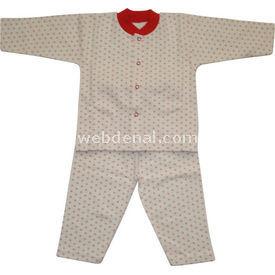 Sebi Bebe 51048 Bebek Pijama Takımı Kar Damlası Kırmızı 3-6 Ay (62-68 Cm) Kız Bebek Pijaması
